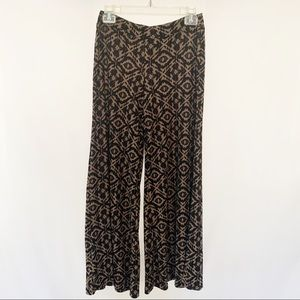 French Laundry Pants & Jumpsuits - French Laundry Palazzo Pants Black & Brown Print